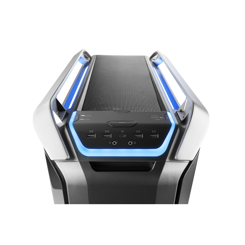 cooler master cosmos c700p detail audio usb3 blau 3000px