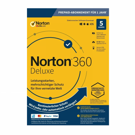 Norton Security Deluxe 360 - 5 Lizenzen