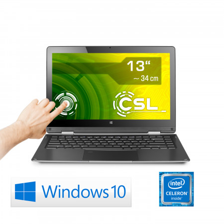 Touch-Notebook Ultra-Slim CSL R'Evolve Y13 / 64GB / Win 10 Home
