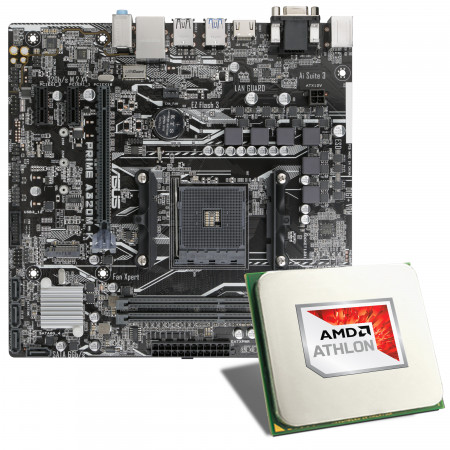 AMD Athlon 3000G / ASUS PRIME A320M-K Mainboard Bundle