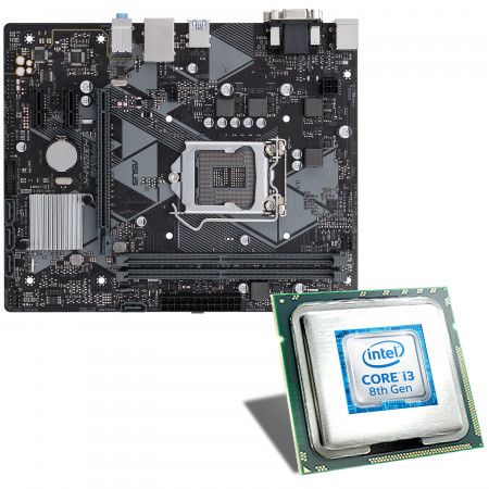 Intel Core i3-8100 / ASUS PRIME H310M-K Mainboard Bundle
