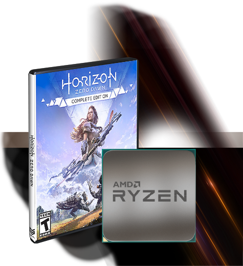 Horizon Zero Dawn Packaging and AMD Ryzen Processor