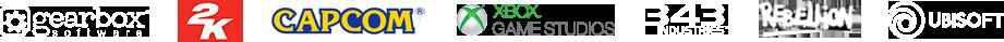 Gearbox Software, 2K, CAPCOM, Xbox Game Studios, 343 Industries, Rebellion, Ubisoft