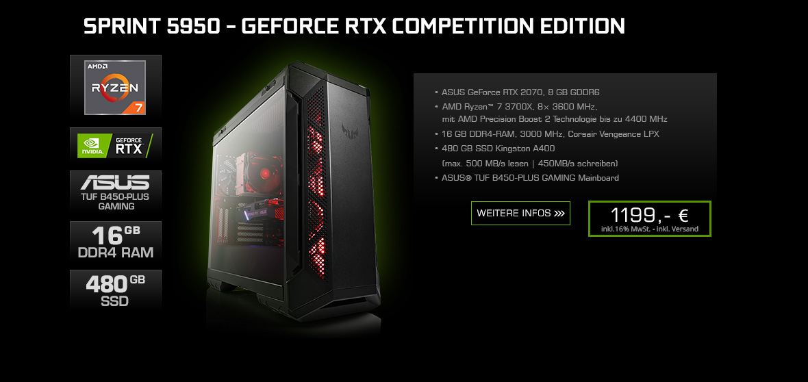 Sprint 5950 - GeForce RTX Competition Edition