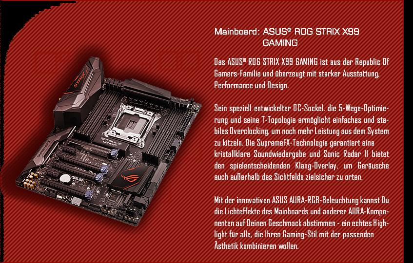ASUS® ROG STRIX X99 GAMING