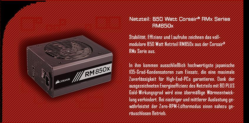 850 Watt Corsair® RMx Series RM850x