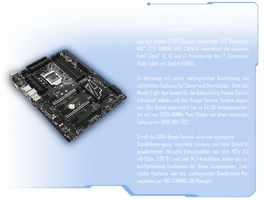 MSI™ Z170A GAMING PRO CARBON
