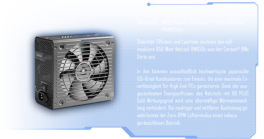 600 Watt Corsair® RMx Series RM650x