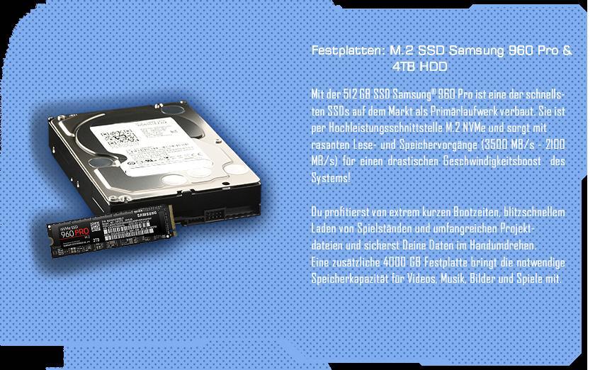 M.2 SSD Samsung 950 Pro & 4TB HDD