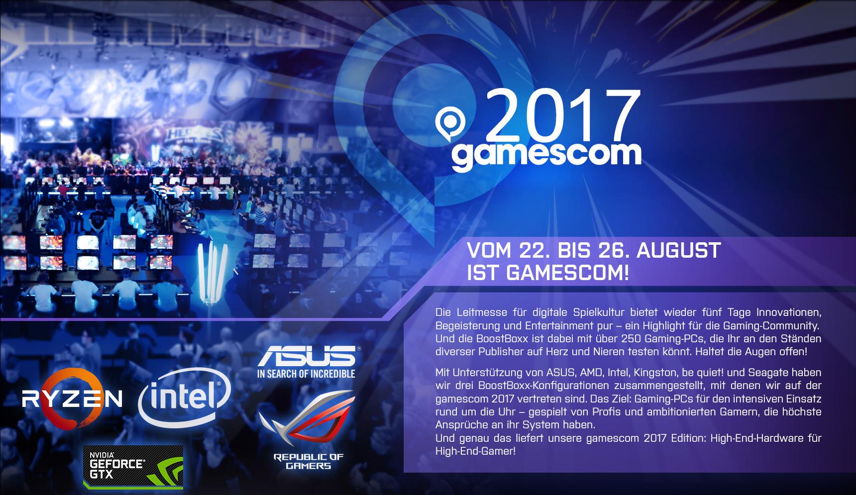 Gamescom 2017 Header