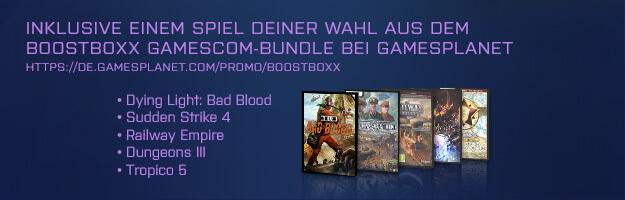 BoostBoxx Gamescom Bundle: Dying Light, Bad Blood, Sudden Strike 4, Railway Empire, Dungeons III oder Tropico 5