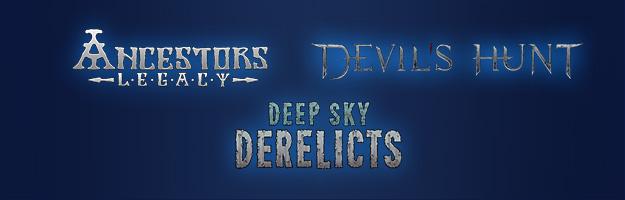 Spiele: Ancestor Leg, Devils Hunt und Deep Sky Derelics.