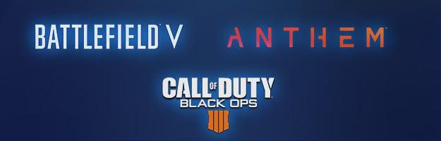 Spiele: Battlefield V, Anthem Call und of Duty Black Ops 4