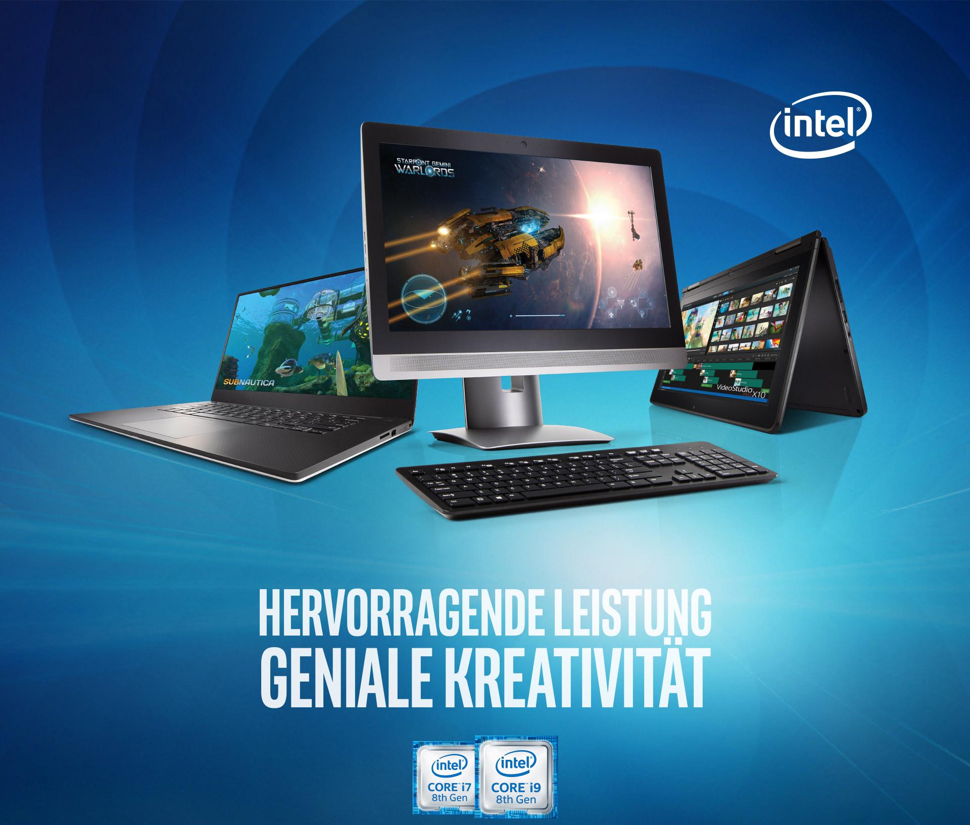 Intel® Hervorragende Leistung Geniale Kreativität - Intel® Core™ i7 & i9 CPU