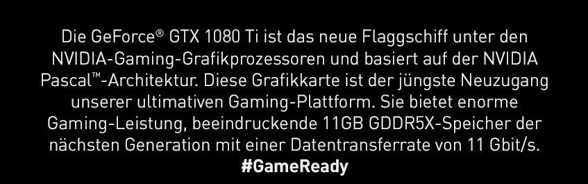 Die GeForce GTX 1080 Ti ist das neue Flagschiff unter den Nvidia-Gaming-Grafikprozessoren
