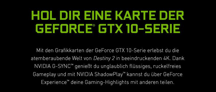 GeForce GTX 10-Serie - Hol dir eine Karte der GeForce GTX 10-Serie