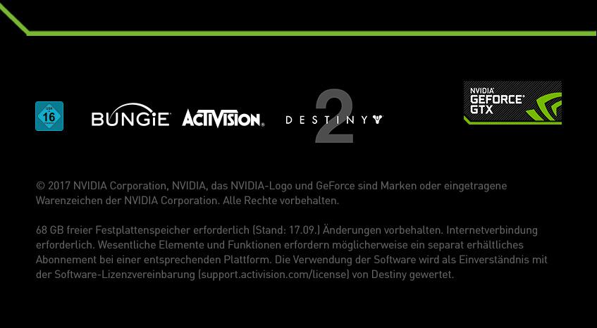 Footer Nvidia GTX - Destiny 2