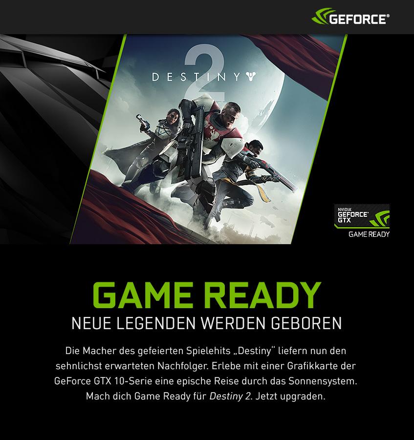 Nvidia GeForce GTX - Destiny 2 - Game Ready Noch mehr Legenden werden geboren