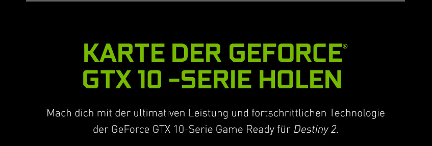 GeForce GTX 10-Serie - Karte der GeForce GTX 10-Serie holen