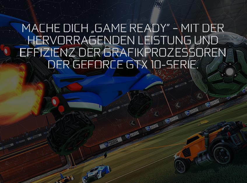 """Mach Dich """"Game Ready"""" – Mit der hervorragenden Leistung und Effizienz der Grafikprozessoren der GeForce® GTX 10-Serie"""