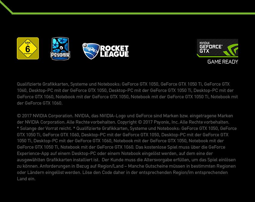 Footer Nvidia GeForce GTX - Rocket League