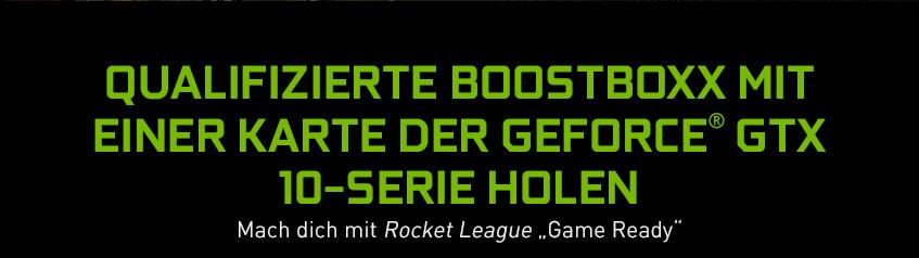Qualifizierte BoostBoxx mit einer Karte der GeForce GTX 10-Serie holen