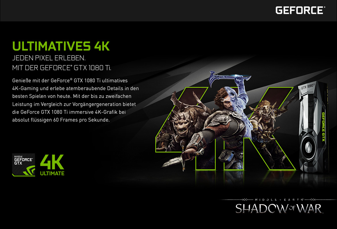 Nvidia GeForce GTX - Ultimatives 4K