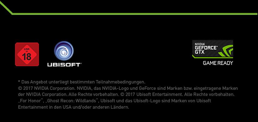Footer Nvidia GTX GameBundle For Honor oder Ghost Recon Wildlands