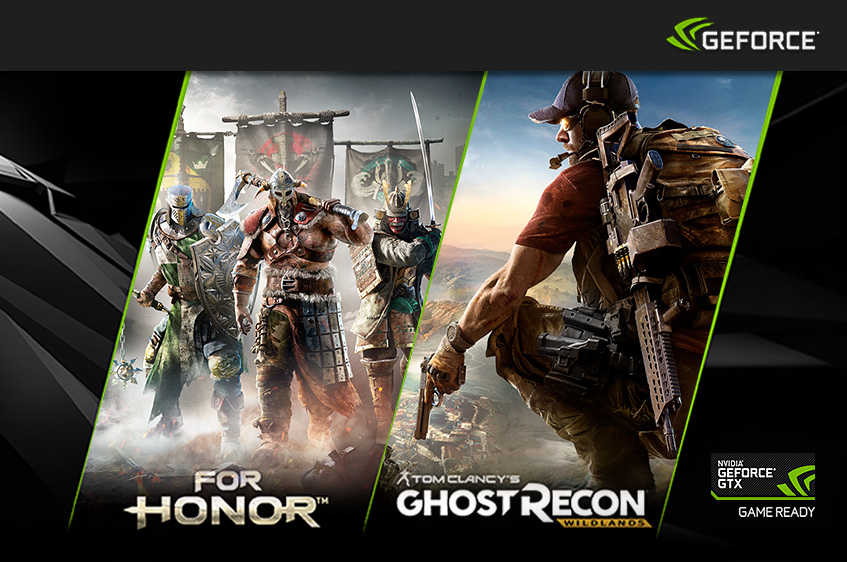 Nvidia GeForce GTX GameBundle - For Honor oder Tom Clancy's Ghost Recon Wildlands