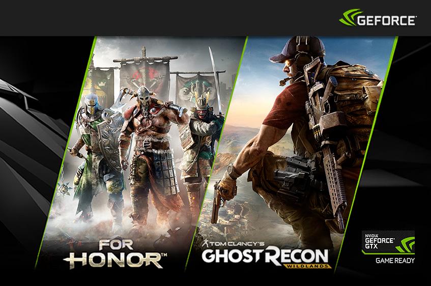 Nvidia GeForce GTX GameBundle - For Honor oder Tom Clancy's Ghost Recon Wildlands