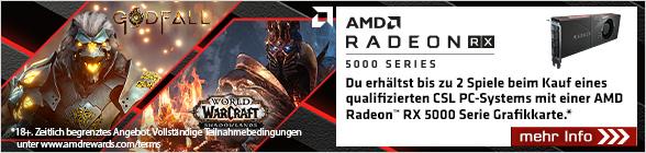 AMD Radeon RX 5000 Godfall & WOW Shadowlands Game Bundle