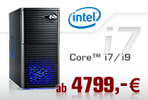 PC-Systeme Intel Core i7/i9