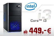 PC-Systeme Intel Core i3
