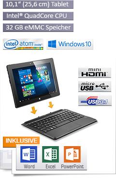 CSL Panther Tab 10 USB 3.1 / Win 10 / Tastatur