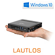 Mini-PC - CSL Narrow Box Ultra HD Compact / 256GB M.2 SSD / Win 10