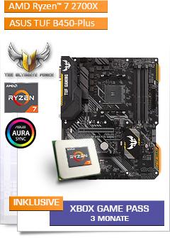 AMD Ryzen 7 2700X / ASUS TUF B450-PLUS GAMING Mainboard Bundle