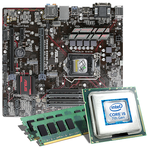 intel core i5 7500 asus prime b250m plus mainboard. Black Bedroom Furniture Sets. Home Design Ideas