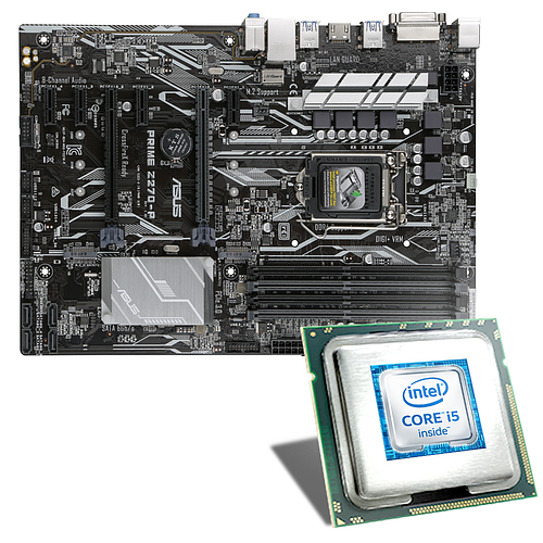 intel core i5 6600k asus prime z270 p mainboard bundle. Black Bedroom Furniture Sets. Home Design Ideas