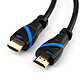 HDMI 2.0 Kabel, 2 m, schwarz/blau