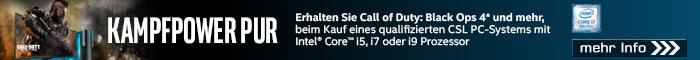 Call of Duty Black Ops 4 zu ausgewählten Intel PC-Systemen!