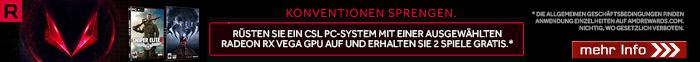 AMD Radeon Vega Bundle - 2 TOP Games gratis!