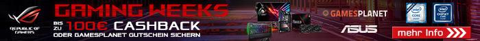 ASUS Gamingweeks: Bis zu 100,- EUR Cashback sichern!