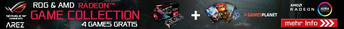 ASUS Radeon Games Collection - 4 Games gratis zu ausgewählten PC-Systemen!