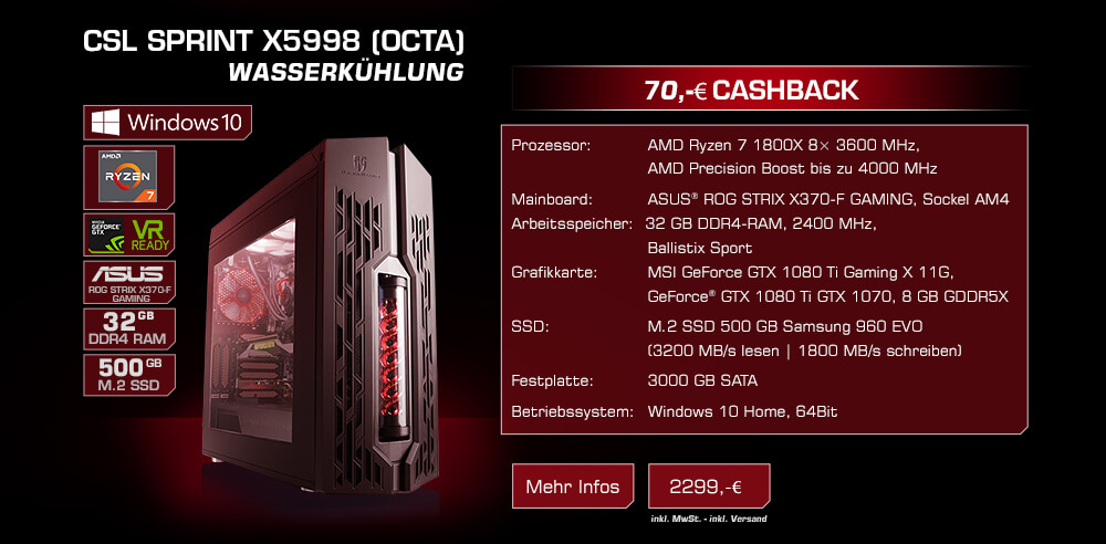 CSL Sprint X5998 (Octa) Wasserkühlung
