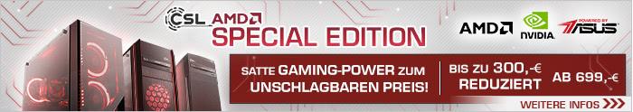 Die CSL Special Edition PCs ... satte Gaming Power zum unschlagbaren Preis! Nur solange der Vorrat reicht!