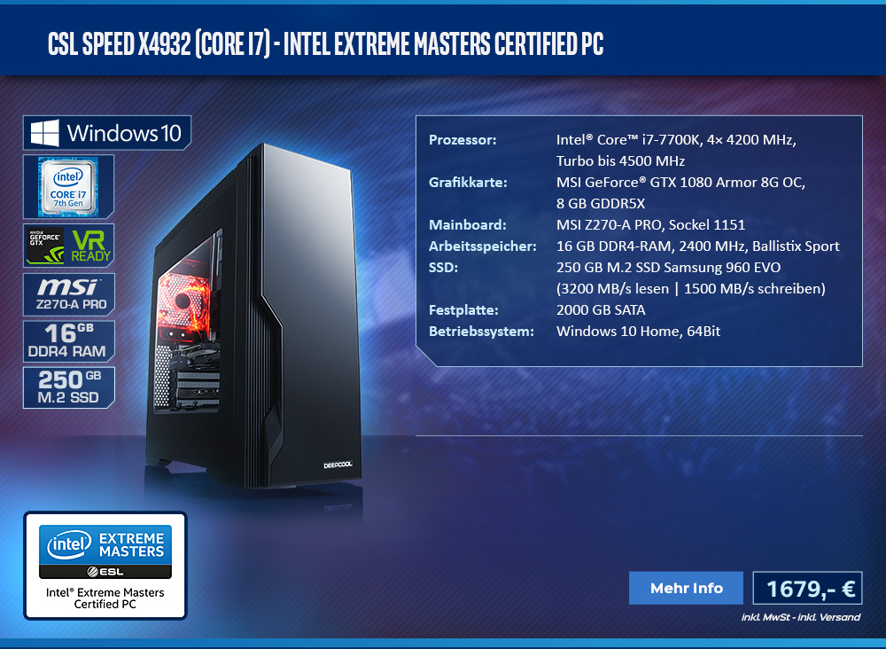 CSL Speed X4932 (Core i7) - Intel Extreme Masters Certified PC