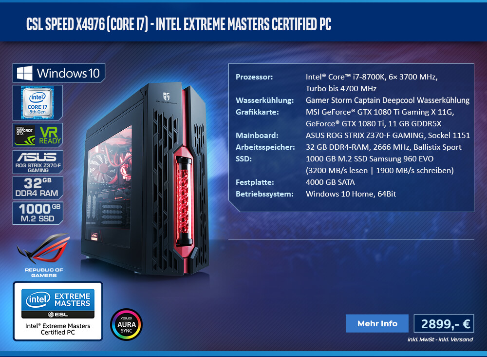 CSL Speed X4976 (Core i7) - Intel Extreme Masters Certified PC
