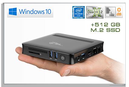 CSL Narrow Box Ultra HD Compact / 512GB M.2 SSD / Win 10