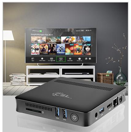 Multimedia-Entertainment mit der CSL Narrow Box UHD Compact