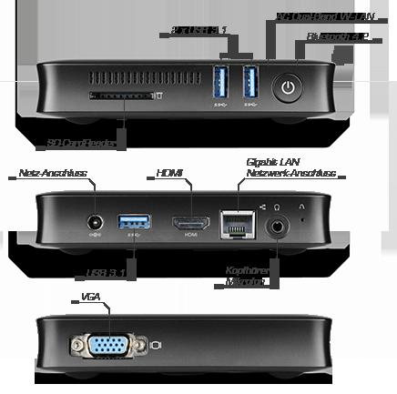 CSL Narrow Box UHD Compact - Seiten- und Rückseitenansicht